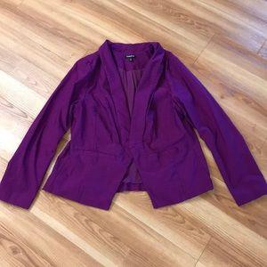 Women's Torrid Blazer purple long sleeve size 2